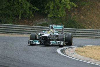 World © Octane Photographic Ltd. F1 Hungarian GP - Hungaroring. Thursday. 25th July 2013. F1 Qualifying. Mercedes AMG Petronas F1 W04 - Nico Rosberg. Digital Ref : 0764lw1d4181