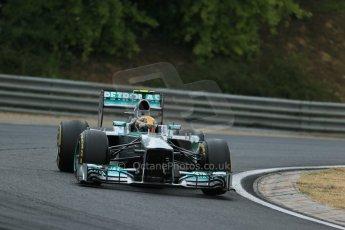 World © Octane Photographic Ltd. F1 Hungarian GP - Hungaroring. Saturday 27th July 2013. F1 Qualifying. Mercedes AMG Petronas F1 W04 – Lewis Hamilton. Digital Ref : 0764lw1d4186