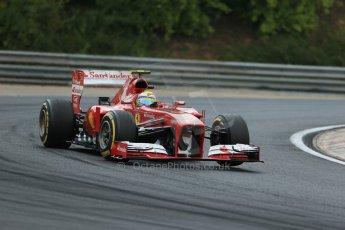 World © Octane Photographic Ltd. F1 Hungarian GP - Hungaroring. Saturday 27th July 2013. F1 Qualifying. Scuderia Ferrari F138 - Felipe Massa. Digital Ref : 0764lw1d4198