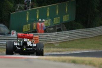 World © Octane Photographic Ltd. F1 Hungarian GP - Hungaroring. Saturday 27th July 2013. F1 Qualifying. Vodafone McLaren Mercedes MP4/28 - Sergio Perez . Digital Ref : 0764lw1d4216