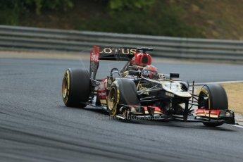 World © Octane Photographic Ltd. F1 Hungarian GP - Hungaroring. Thursday. 25th July 2013. F1 Qualifying. Lotus F1 Team E21 - Kimi Raikkonen. Digital Ref : 0764lw1d4256