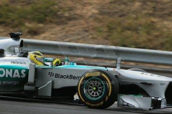 World © Octane Photographic Ltd. F1 Hungarian GP - Hungaroring. Thursday. 25th July 2013. F1 Qualifying. Mercedes AMG Petronas F1 W04 - Nico Rosberg. Digital Ref : 0764lw1d4342