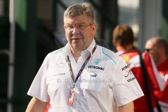 World © Octane Photographic Ltd. F1 Hungarian GP - Hungaroring, Saturday 27th July 2013 - Paddock. Mercedes AMG Petronas – Ross Brawn. Digital Ref : 0762lw1d0697