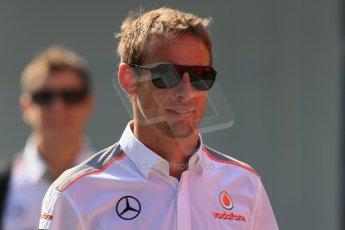 World © Octane Photographic Ltd. F1 Hungarian GP - Hungaroring, Saturday 27th July 2013 - Paddock. Vodafone McLaren Mercedes - Jenson Button. Digital Ref : 0762lw1d2890