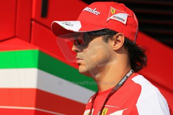 World © Octane Photographic Ltd. F1 Hungarian GP - Hungaroring, Saturday 27th July 2013 - Paddock. Scuderia Ferrari - Felipe Massa. Digital Ref : 0762lw1d3063