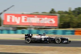 World © Octane Photographic Ltd. F1 Hungarian GP - Hungaroring, Saturday 27th July 2013 - Practice 3. Williams FW35 - Pastor Maldonado. Digital Ref : 0763lw1d0753