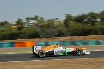 World © Octane Photographic Ltd. F1 Hungarian GP - Hungaroring, Saturday 27th July 2013 - Practice 3. Sahara Force India VJM06 - Paul di Resta. Digital Ref : 0763lw1d0817