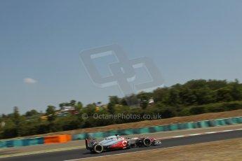 World © Octane Photographic Ltd. F1 Hungarian GP - Hungaroring, Saturday 27th July 2013 - Practice 3. Vodafone McLaren Mercedes MP4/28 - Jenson Button. Digital Ref : 0763lw1d0890