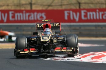 World © Octane Photographic Ltd. F1 Hungarian GP - Hungaroring, Saturday 27th July 2013 - Practice 3. Lotus F1 Team E21 - Romain Grosjean. Digital Ref : 0763lw1d3079