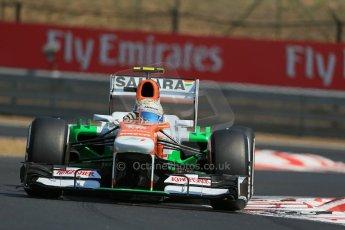 World © Octane Photographic Ltd. F1 Hungarian GP - Hungaroring, Saturday 27th July 2013 - Practice 3. Sahara Force India VJM06 - Adrian Sutil. Digital Ref : 0763lw1d3086