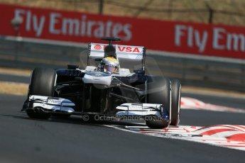 World © Octane Photographic Ltd. F1 Hungarian GP - Hungaroring, Saturday 27th July 2013 - Practice 3. Williams FW35 - Pastor Maldonado. Digital Ref : 0763lw1d3108