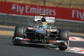 World © Octane Photographic Ltd. F1 Hungarian GP - Hungaroring, Saturday 27th July 2013 - Practice 3. Sauber C32 - Esteban Gutierrez. Digital Ref : 0763lw1d3121