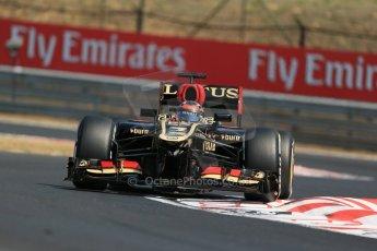 World © Octane Photographic Ltd. F1 Hungarian GP - Hungaroring, Saturday 27th July 2013 - Practice 3. Lotus F1 Team E21 - Kimi Raikkonen. Digital Ref : 0763lw1d3214