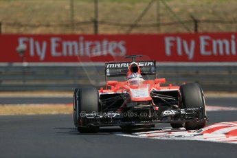 World © Octane Photographic Ltd. F1 Hungarian GP - Hungaroring, Saturday 27th July 2013 - Practice 3. Marussia F1 Team MR02 - Jules Bianchi. Digital Ref : 0763lw1d3268