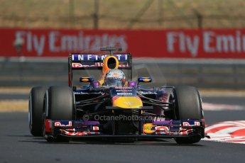 World © Octane Photographic Ltd. F1 Hungarian GP - Hungaroring, Saturday 27th July 2013 - Practice 3. Infiniti Red Bull Racing RB9 - Sebastian Vettel. Digital Ref : 0763lw1d3273