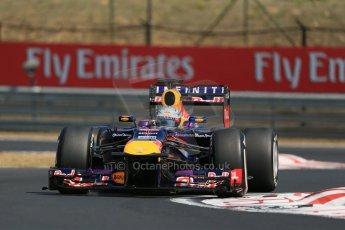 World © Octane Photographic Ltd. F1 Hungarian GP - Hungaroring, Saturday 27th July 2013 - Practice 3. Infiniti Red Bull Racing RB9 - Sebastian Vettel. Digital Ref : 0763lw1d3334