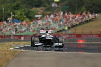 World © Octane Photographic Ltd. F1 Hungarian GP - Hungaroring, Saturday 27th July 2013 - Practice 3. Williams FW35 - Pastor Maldonado. Digital Ref : 0763lw1d3393