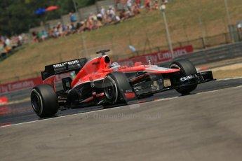 World © Octane Photographic Ltd. F1 Hungarian GP - Hungaroring, Saturday 27th July 2013 - Practice 3. Marussia F1 Team MR02 - Jules Bianchi. Digital Ref : 0763lw1d3498