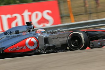World © Octane Photographic Ltd. F1 Hungarian GP - Hungaroring, Saturday 27th July 2013 - Practice 3. Vodafone McLaren Mercedes MP4/28 - Jenson Button. Digital Ref : 0763lw1d3526