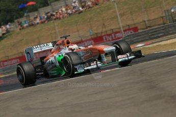 World © Octane Photographic Ltd. F1 Hungarian GP - Hungaroring, Saturday 27th July 2013 - Practice 3. Sahara Force India VJM06 - Paul di Resta. Digital Ref : 0763lw1d3585