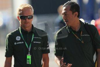 World © Octane Photographic Ltd. F1 Hungarian GP - Hungaroring. Friday 26th July 2013. F1 Paddock - Heikki Kovalainen - Caterham. Digital Ref : 0757lw1d0662