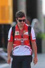 World © Octane Photographic Ltd. F1 Hungarian GP - Hungaroring. Friday 26th July 2013. F1 Paddock. Scuderia Ferrari F138 - Fernando Alonso. Digital Ref : 0757lw1d0686