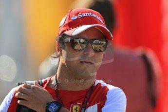 World © Octane Photographic Ltd. F1 Hungarian GP - Hungaroring. Friday 26th July 2013. F1 Paddock. Scuderia Ferrari F138 - Felipe Massa. Digital Ref : 0757lw1d0707