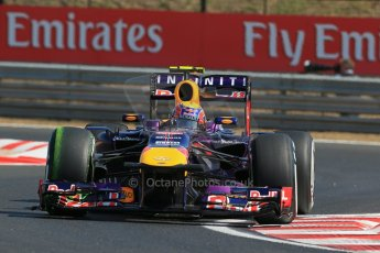 World © Octane Photographic Ltd. F1 Hungarian GP - Hungaroring. Friday 26th July 2013. F1 Practice 1. Infiniti Red Bull Racing RB9 - Mark Webber. Digital Ref : 0758lw1d0802