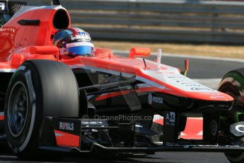 World © Octane Photographic Ltd. F1 Hungarian GP - Hungaroring. Friday 26th July 2013. F1 Practice 1. Marussia F1 Team MR02 - Rudolfo Gonzales. Digital Ref : 0758lw1d0907