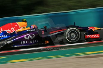 World © Octane Photographic Ltd. F1 Hungarian GP - Hungaroring. Friday 26th July 2013. F1 Practice 1. Infiniti Red Bull Racing RB9 - Mark Webber. Digital Ref : 0758lw1d1052