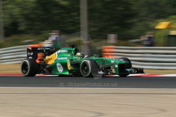 World © Octane Photographic Ltd. F1 Hungarian GP - Hungaroring. Friday 26th July 2013. F1 Practice 1. Caterham F1 Team CT03 - Charles Pic. Digital Ref : 0758lw1d1064