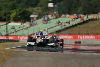 World © Octane Photographic Ltd. GP2 Hungarian GP, Hungaroring, Friday 26th July 2013. Qualifying. Simon Trummer – Rapax and Jolyon Palmer - Carlin. Digital Ref : 0761lw1d2767