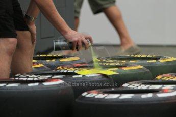 World © Octane Photographic Ltd. F1 Hungarian GP - Hungaroring. Thursday Paddock. 25th July 2013. Pirelli tires. Digital Ref : 0756lw1d0351