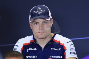 World © Octane Photographic Ltd. F1 Hungarian GP - Hungaroring. Thursday Press Conference. 25th July 2013. Williams FW35 - Valtteri Bottas. Digital Ref : 0756lw1d0513