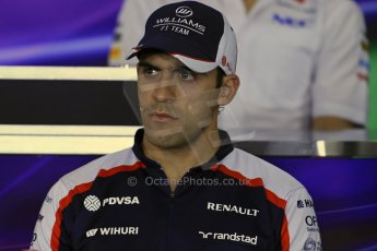 World © Octane Photographic Ltd. F1 Hungarian GP - Hungaroring. Thursday Press Conference. 25th July 2013. Williams FW35 - Pastor Maldonado. Digital Ref : 0756lw1d0588