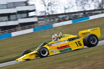 World © Octane Photographic Ltd. Masters Testing – Thursday 4th April 2013. FIA Masters Historic Formula One Championship. Bob Berridge. Ex-Emerson Fittipaldi F5A2. Digital ref : 0629ce1d0439