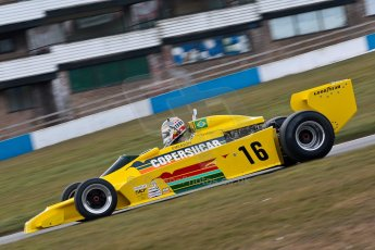 World © Octane Photographic Ltd. Masters Testing – Thursday 4th April 2013. FIA Masters Historic Formula One Championship. Bob Berridge. Ex-Emerson Fittipaldi F5A2. Digital ref : 0629ce1d0443