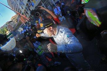 World © Octane Photographic Ltd. F1 Monaco GP, Monte Carlo - Sunday 26th May - Podium and celebrations. Mercedes AMG Petronas' Nico Rosberg celebrates after his lights to flag victory. Digital Ref : 0712lw1d2156