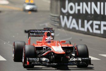 World © Octane Photographic Ltd. F1 Monaco GP, Monte Carlo - Sunday 26th May - Race. Marussia F1 Team MR02 - Jules Bianchi. Digital Ref : 0711lw1d0938