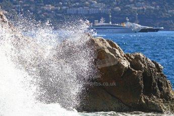 World © Octane Photographic Ltd. Race day waves in Monaco. Digital Ref : 07137d2927