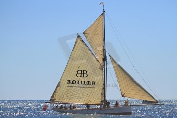 World © Octane Photographic Ltd. Boulle Diamonds yacht heading along the coast. Digital Ref : 07137d3024