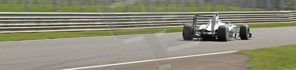 World © Octane Photographic Ltd. F1 Italian GP - Monza, Friday 6th September 2013 - Practice 2. Mercedes AMG Petronas F1 W04 - Nico Rosberg. Digital Ref : 0813cb7d5301