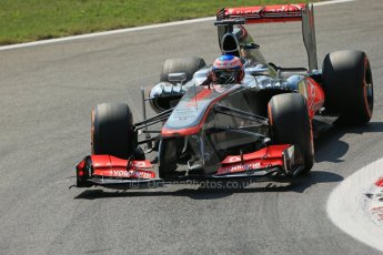 World © Octane Photographic Ltd. F1 Italian GP - Monza, Friday 6th September 2013 - Practice 2. Vodafone McLaren Mercedes MP4/28 - Jenson Button. Digital Ref : 0813lw1d2584