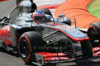 World © Octane Photographic Ltd. F1 Italian GP - Monza, Friday 6th September 2013 - Practice 2. Vodafone McLaren Mercedes MP4/28 - Jenson Button. Digital Ref : 0813lw1d2586