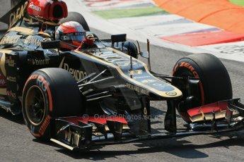 World © Octane Photographic Ltd. F1 Italian GP - Monza, Friday 6th September 2013 - Practice 2. Lotus F1 Team E21 - Romain Grosjean. Digital Ref : 0813lw1d2734
