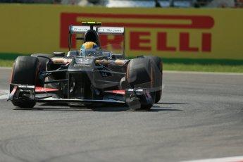 World © Octane Photographic Ltd. F1 Italian GP - Monza, Friday 6th September 2013 - Practice 2. Sauber C32 - Esteban Gutierrez. Digital Ref : 0813lw1d2810