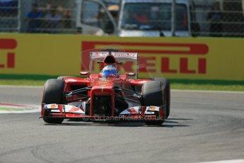 World © Octane Photographic Ltd. F1 Italian GP - Monza, Friday 6th September 2013 - Practice 2. Scuderia Ferrari F138 - Fernando Alonso. Digital Ref : 0813lw1d2845