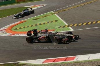 World © Octane Photographic Ltd. F1 Italian GP - Monza, Friday 6th September 2013 - Practice 2. Lotus F1 Team E21 - Kimi Raikkonen. Digital Ref : 0813lw1d42300