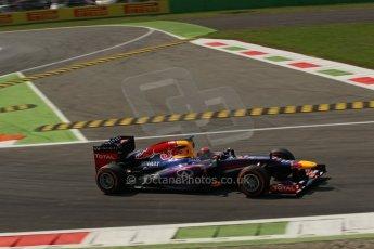 World © Octane Photographic Ltd. F1 Italian GP - Monza, Friday 6th September 2013 - Practice 2. Infiniti Red Bull Racing RB9 - Sebastian Vettel. Digital Ref : 0813lw1d42312