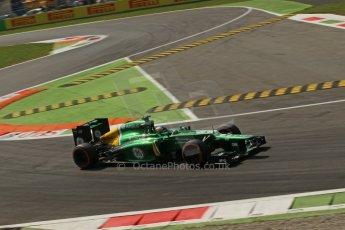 World © Octane Photographic Ltd. F1 Italian GP - Monza, Friday 6th September 2013 - Practice 2. Caterham F1 Team CT03 - Charles Pic. Digital Ref : 0813lw1d42335